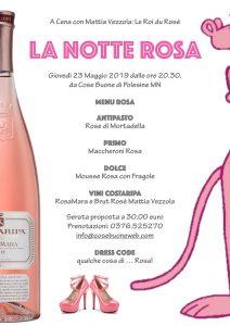 La Notte Rosa: a cena con Mattia Vezzola