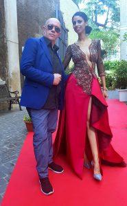 Massimiliano Calandra RAI presenta un abito di Gianni Cirillo Couture
