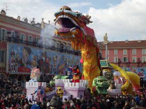 Nizza - il carro del drago